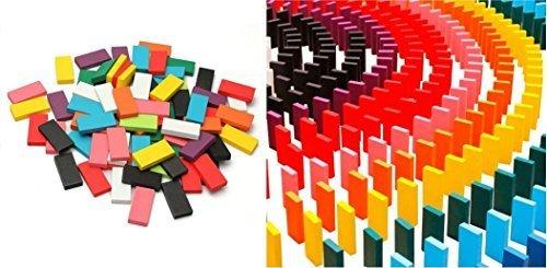 カラードミノ World Bridge マルチカラー 木製ドミノ 10色・12色 積み木としても◎ カラー 積木(12色),知育玩具,6歳,おすすめ