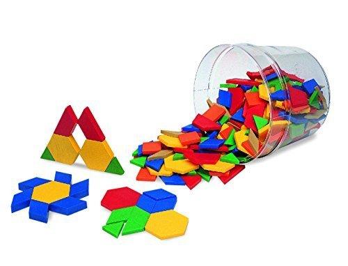 パターンブロック(プラスチック製:250個セット),知育玩具,6歳,おすすめ