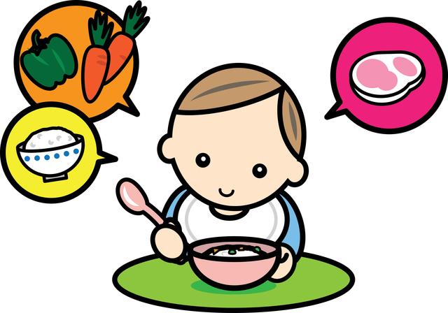 赤ちゃん食事イメージ,離乳食,栄養,食物繊維