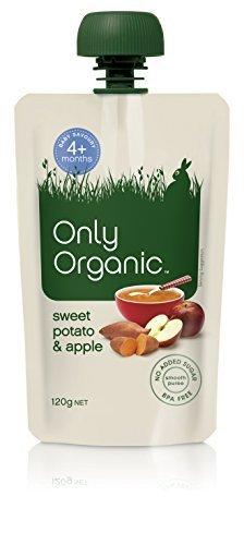 オンリーオーガニック ベビーフード(パウチタイプ) サツマイモとリンゴのお食事 離乳初期~ 120g,離乳食,さつまいも,