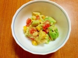 【離乳食】3色サラダ,離乳食,アボカド,