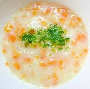 離乳食中期 3種の野菜と青海苔入りクリームスープ,離乳食,ホワイトソース,
