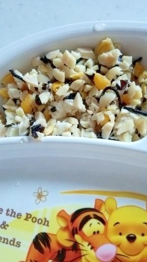 離乳食☆大豆とひじきとかぼちゃのチーズサラダ,離乳食,ひじき,