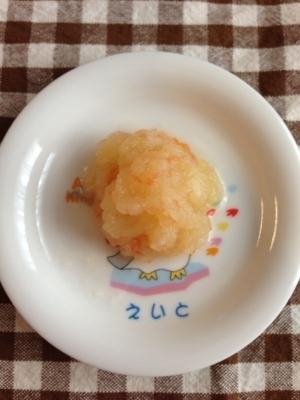 離乳食後期☆りんごトマトなすのくたくた煮,離乳食,なす,