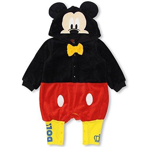 ベビードール ディズニー なりきりボアロンパース 子供服 DISNEY Collection BABY(70-80) ミッキー,ベビー,ロンパース,