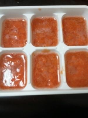 離乳食★ミニトマトペーストと冷凍 ,離乳食初期,トマト,