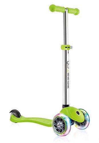 GLOBBER グロッバー プリモ/ライト キックボード フラッシュ 光る 3輪 フットブレーキ 外遊び 子供 乗り物 安全設計 キックスクーター (ライムグリーン) WLGB423106,5歳,男の子,プレゼント