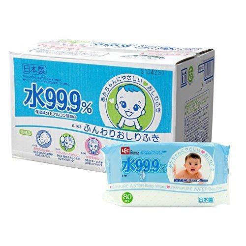 水99.9% ふんわり おしりふき 80枚入×20パック (1600枚),赤ちゃん,おしりふき,おすすめ