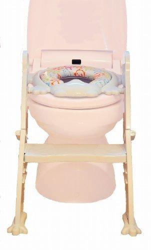リトルプリンセス(Little Princess) かえるのふかふか ステップ式 トイレトレーナー ホワイト,補助便座,