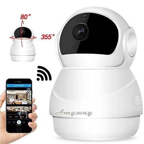 IP 防犯カメラ Amyway WIFI ワイヤレス監視カメラ スマホで遠隔監視・操作 P2P 警報機能 暗視撮影 動体検知 双方向音声 ベビーモニター 日本語説明書,ベビーモニター,