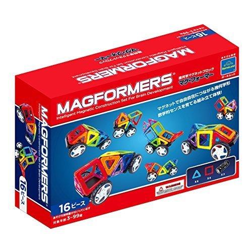 ジムワールド マグフォーマー 乗り物セット16ピース MF707004,おもちゃ,2歳,