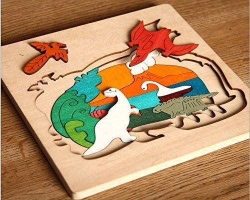 Hostar 人気の木製パズル 恐竜シリーズ 子供 はめこみ 形合わせ おもちゃ 3才から パズル 幼児 知育玩具 木のおもちゃ,知育玩具,3歳,おすすめ