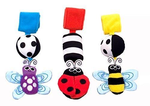 Sassy ベビーカー用おもちゃ ゴーゴー・バグズ(3コセット) TYBW80036,新生児,おもちゃ,