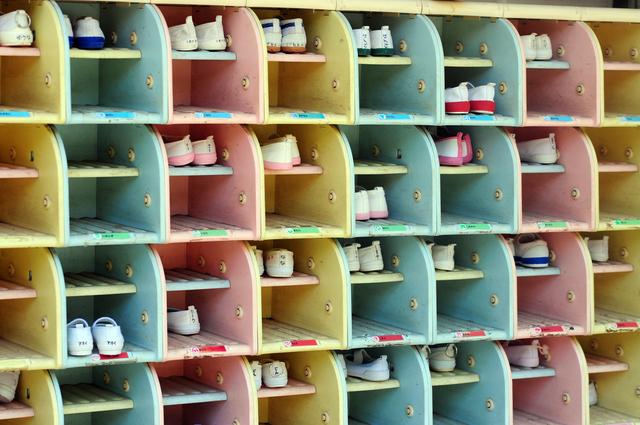 幼稚園靴箱,幼稚園,上履き,