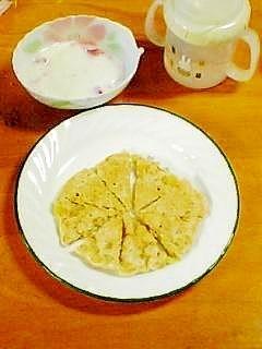 離乳食 もっちりバナナパンケーキ,離乳食,オートミール,