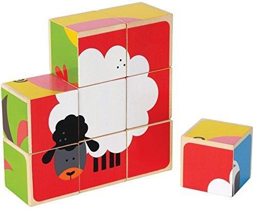 Hape(ハペ) ファームアニマル ブロックパズル E0422,2歳,女の子,プレゼント