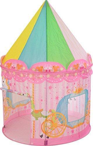 ottostyle.jp キッズプレイテント (メリーゴーランド/馬車柄) ピンク (約)直径100cm×高さ140cm 折りたたみ 子供用テント 女の子 キッズテント キッズハウス 室内・屋内,2歳,女の子,プレゼント