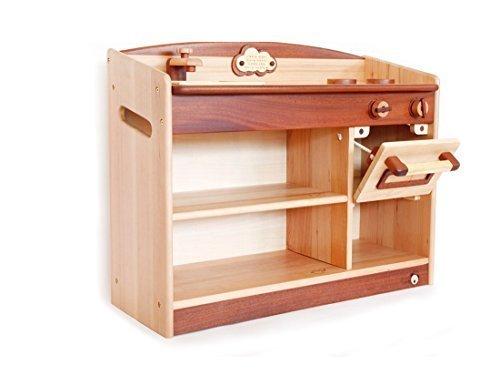 スプソリ 木製ままごとキッチン オーブン付き 収納棚 完成品 名入れ刻印つき,2歳,女の子,プレゼント