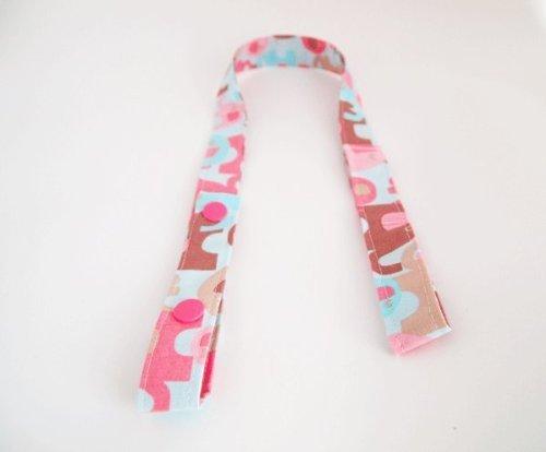 SweetBobbins おもちゃホルダー Joann Elephants All Over ピンク お出かけ ベビーカー おもちゃ ホルダー,チャイルドシート,おもちゃ,