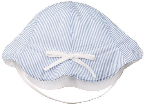 petit bonheur(プチボヌール) リバーシブルピケハットUV ホワイト×ブルーストライプ (S(44-52cm)),赤ちゃん,帽子,おすすめ