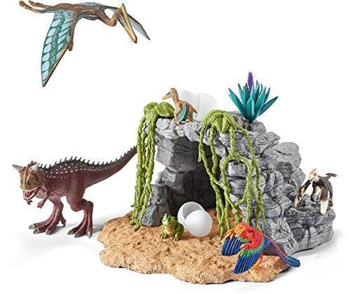 Schleich シュライヒ 恐竜フィギュア 恐竜と洞窟セット 42261,4歳,男の子,プレゼント