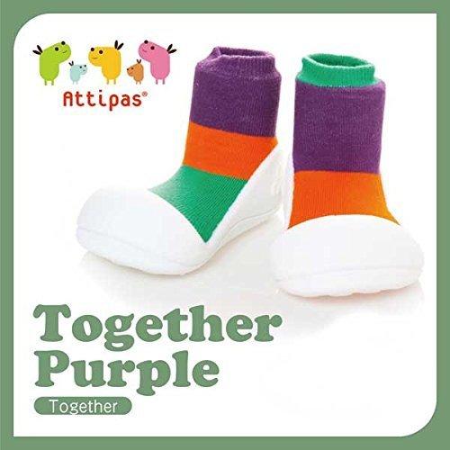 アティパス attipas ベビーシューズ トゥギャザー パープル Lサイズ(12.5cm),赤ちゃん,靴,
