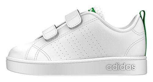 [アディダス] ベビーシューズ VALCLEAN2 CMF INF ランニングホワイト/ランニングホワイト/グリーン(AW4889) 13 cm,赤ちゃん,靴,