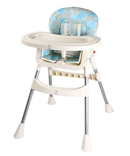 Zeg High Chair Essential 赤ちゃん用のイス安全椅子ダイニングテーブル(並行輸入品) (Blue),離乳食,椅子,