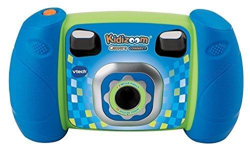 VTech Kidizoom Camera Connect 子供用トイカメラ(MicroSD対応) ブルー [並行輸入品],6歳,男の子,プレゼント
