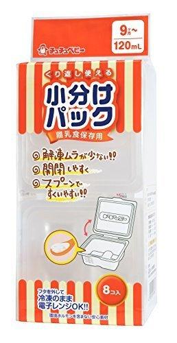 チュチュベビー 離乳食保存用 小分けパック 120mL 8コ入り,離乳食,冷凍,容器
