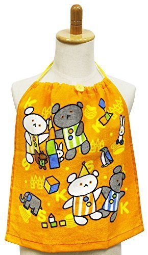 お食事エプロン こぐまちゃん おりこうタオル たのしいね 34×35cm WG455500,赤ちゃん,タオル,