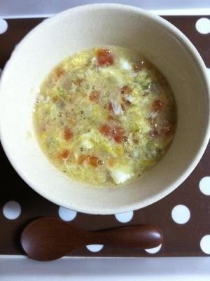 《離乳食後期》とろーり卵とトマトのスープ♥,離乳食,いつから,