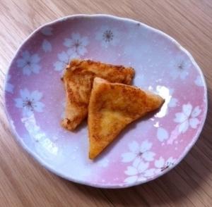 離乳食後期♪トマト味のフレンチトースト☆ ,離乳食,フレンチトースト,