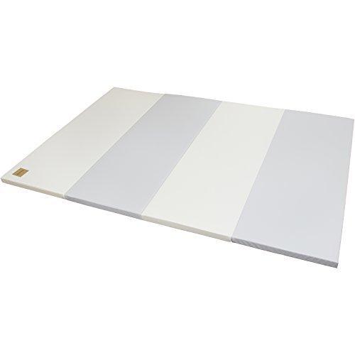 CARAZ(カラズ) ベーシック 4段 140×200×4cm グレー アイボリー,ベビーマット,