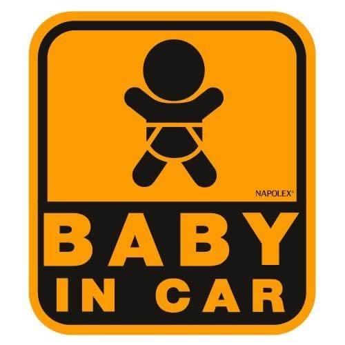 ナポレックス 傷害保険付き BABY IN CAR セーフティーサイン 【マグネットタイプ(外貼り)】 SF-32,ベビーインカー,ステッカー,