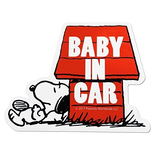 PEANUTS スヌーピー ハウス セーフティサイン BABY in CAR マグネット SN54,ベビーインカー,ステッカー,