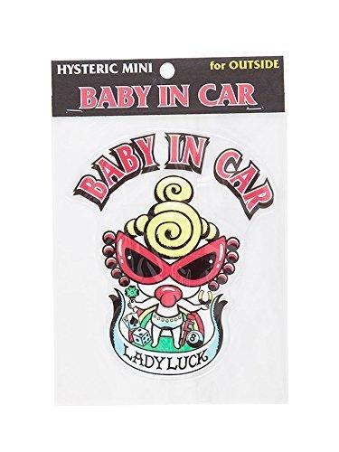(ヒステリックミニ) Hysteric Mini Baby&KidsinSticker外貼り用 レッド,ベビーインカー,ステッカー,