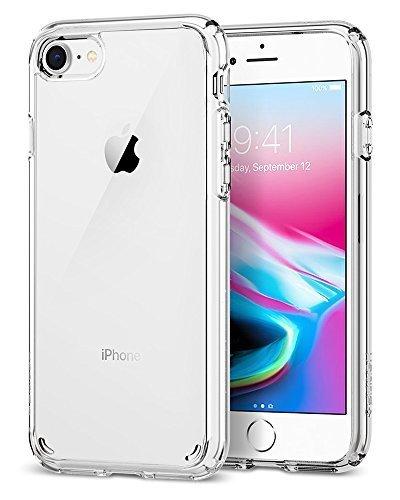 【Spigen】 iPhone8 ケース / iPhone7 ケース, [ 全面 クリア ] [ 米軍MIL規格取得 ] [ Qi 充電 対応 ] [ 落下 衝撃 吸収 ] ウルトラ・ハイブリッド2 アイフォン 8 / 7 用 耐衝撃カバー (iPhone8 / iPhone7, クリスタル・クリア),手作り,スマホケース,
