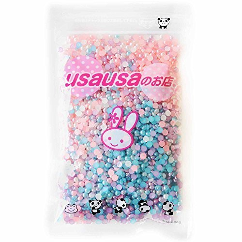 usausaのお店 カラフルパールイミテーション フラットバック 3000個セット(4mm) デコパーツ ピンク・ブルー・パープル・ホワイト(B230),手作り,スマホケース,