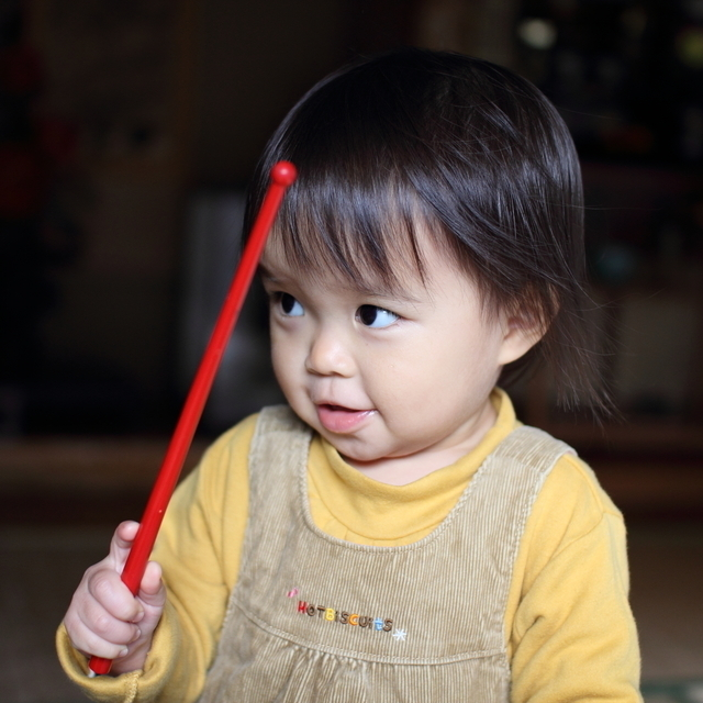 赤ちゃんとバチ,おもちゃ,楽器,