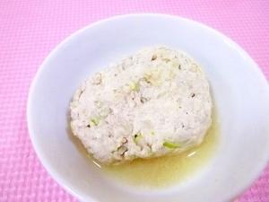 離乳食*レンジで簡単♪和風豚豆腐ハンバーグ,離乳食,豆腐ハンバーグ,