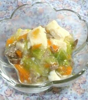 離乳食中期後半~☆野菜たっぷり肉豆腐,離乳食,豚肉,