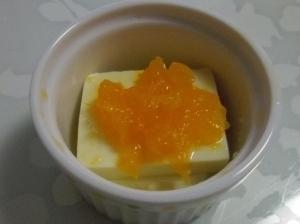 離乳食中期◎みかん豆腐,離乳食,みかん,