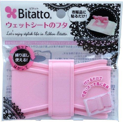 ビタット Bitatto ウェットシートのフタ リボン型 ピンク,おしりふき,フタ,