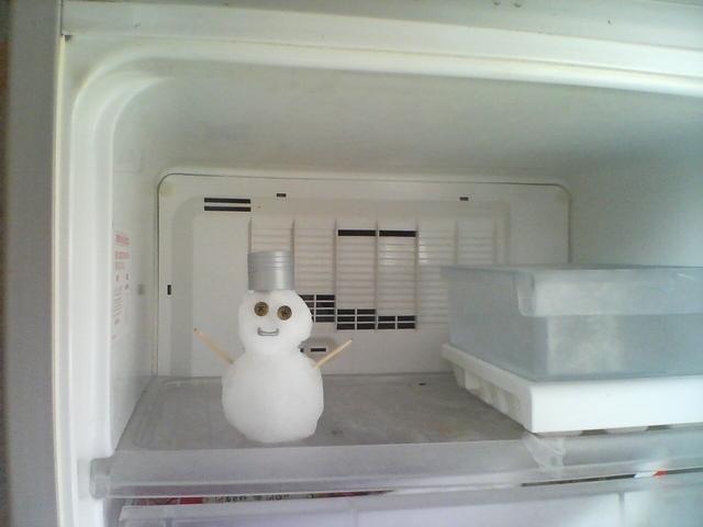 冷凍庫の雪だるま,離乳食,パンケーキ,