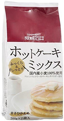 成城石井 国内産小麦100%使用 ホットケーキミックス 400g,離乳食,パンケーキ,