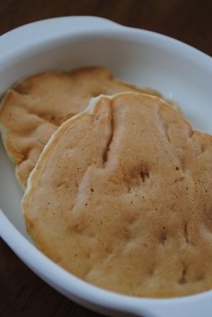 【離乳食後期】卵・牛乳なしのバナナパンケーキ,離乳食,パンケーキ,
