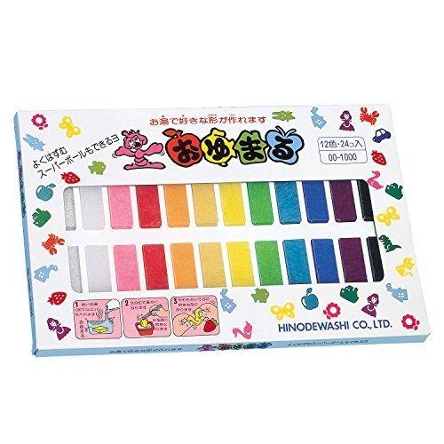 ヒノデワシ プラスチックねんど おゆまる1000 12色 24個入,4歳,誕生日プレゼント,