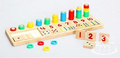 木の数遊び 木製 子供 幼児 教育 おもちゃ/知育玩具,4歳,誕生日プレゼント,