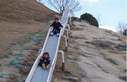 グリーンピアせとうちの子供の国のローラー滑り台,アスレチック,広島,
